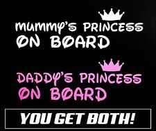 Daddy's Princess On Board Sticker Decal Vinyl Car Ute 4x4 Baby Disney Sign Funny