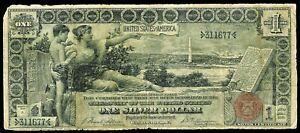 1896 SILVER CERTIFICATE $1 DOLLAR EDUCATIONAL NOTE FR # 223 TILLMAN & MORGAN