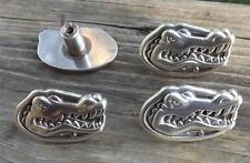 Florida Gators cabinet knobs / drawer pulls set of four silver / steel