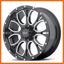 16x8 Helo HE879 6,8 Lug 4 New Black/Milled Wheels Rims FREE Center Caps & Lugs