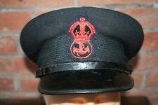 WW1 / WW2 Royal Navy Petty Officer's peaked cap Small peak & leather chin Strap