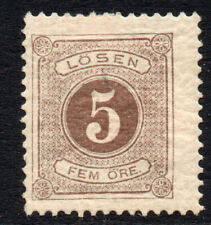 Sweden 5 Ore Postage Due Stamp c1877-86 Mounted Mint (2514)