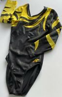 Competition Alpha Factor  Elite Leotard Black/Gold With Bling