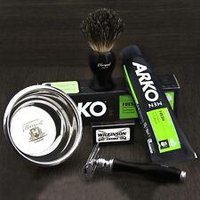 Haryali London Shaving Brush Safety razor Set ARKO Cream Wilkinson Sword BOWL