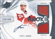 TOMAS JURCO 2013-14 Upper Deck SPx Rookie Autograph Jersey #/499 Detroit