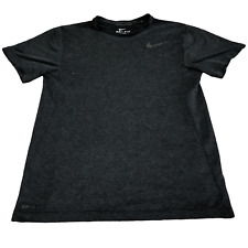 Nike Dri-fit T-Shirt Men's S Charcoal Black Exercise Running Breathable Cool