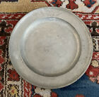 19th Century Austrian Pewter Charger Plate   DW 1849  Stamped Schaffer 1834