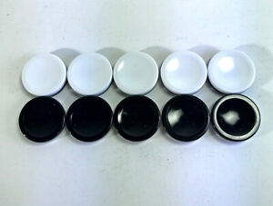 10 Othello Game Parts Pieces Replacement Black/ White Discs  2002 Fast Ship