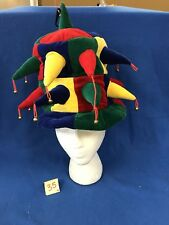 Jester Hat Clown Renaissance Mid-Evil Joker Mardi Gras Costume Accessory OSFA