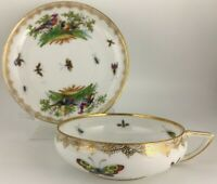 "Richard Klemm Dresden Cup & saucer ( IMPERFECT ""B"" )"