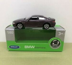 WELLY NEX 1:60 BMW 645CI SILVER BROWN METALLIC - MINT BOXED