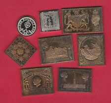 EIGHT WORLD SILVER STAMP INGOTS IN NEAR MINT CONDITION