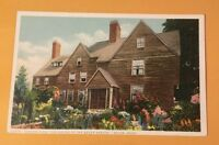 Garden View - House of Seven Gables SALEM MA early postcard - PHOSTINT