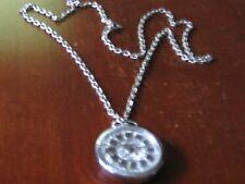 EST Wind-up Necklace Pendant Watch Works Fine Lifetime Spring