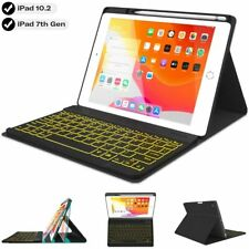 Ipad Keyboard Case 10.2 7Th Generation 2019 - Soft Tpu Protective Stand Cover Wi