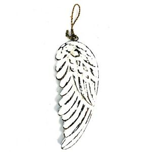 Hand Crafted Wooden 18cm Angel Wing