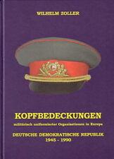 Zoller: Kopfbedeckungen der DDR 1945-1990 (NVA Polizei Zoll Grenztruppen) -NEU-
