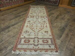 SUPER FINE TRIBAL KARACHEH GEOMETRIC TURKISH SERAPI HERIZ KILIM 2.6x8 RUG
