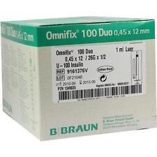 OMNIFIX Duo 100 Insulin Einmalspritzen 100X1ml PZN 1349035