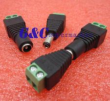 5pair Male Female 2.1 x 5.5mm 12V DC Power Plug Jack Adapter Connector  CCTV J41