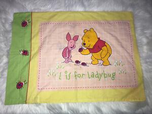 Winnie The Pooh Piglet Standard Pillow Case B Butterfly L Ladybug Green Yellow