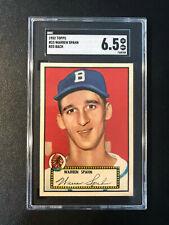 1952 Topps #33 Warren Spahn Red Back Braves SGC 6.5 PSA Looks Nicer Set Break