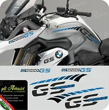 Kit Adesivi Fianco Serbatoio Moto BMW R 1200 gs LC stripes racing becco CYAN