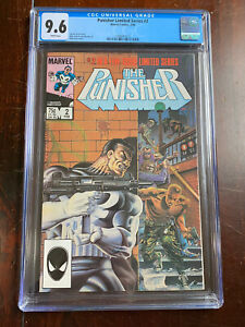 Punisher Limited Series #2 (1986) CGC 9.6 - Great Cover! White Pages!