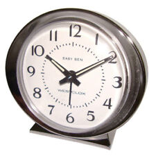 Westclox 3-1/2 in. L Silver Analog Alarm Clock Batteries Required