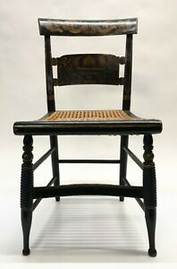 Antique Hitchcock Style Side Chair Country Farmhouse Decor