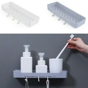 Adhesive Bathroom Shelf Racks Wall Mounted Home Kitchen Storage Holder Organizer