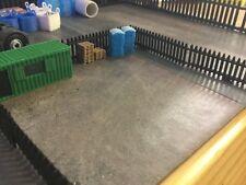 Pack of 6 ..1:148 N Gauge 3d Printed Black Security Fence