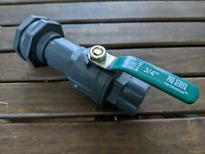 """3/4"""" Rain Barrel Ball Valve Spigot + Stainless Steel Handle & Bulkhead Fitting"""