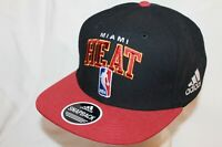 "Miami Heat Snapback Hat Cap ""Classic Arch"" by Adidas NBA Caps"