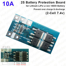 2S 10A 7.4V Lithium Li-ion 18650 Battery Packs Discharge BMS Protection Board