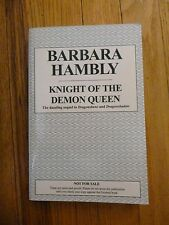 Knight of the Demon Queen by Barbara Hambly 2000 unrevised proofs
