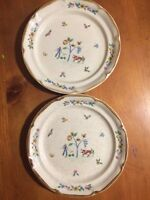 "VTG  International Heartland Stoneware Salad Plates 7 1/2""- Japan-Set/2"