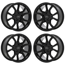 "18"" AUDI A5 S5 BLACK WHEELS RIMS FACTORY OEM 2012 2013 2014 2015 SET 4 58890"