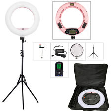Yidoblo FE-480II Pink Photo Lighting LED Studio makeup Ring Light + Stand +Bag