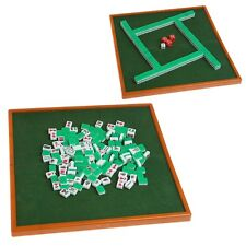 Portable Mini 144 Mahjong Set Foldable mAh Jong Table Traditional Game Travel