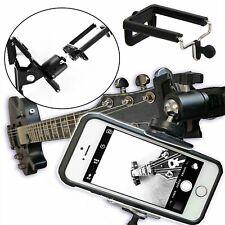 Guitar Ukulele Clip Bracket Holder Mount For Cell Phones / Gopro Action Camera