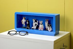 SF-PFCS-BLU: Designer Display Case for Vinyl Figures, Collectibles, Toys - Blue