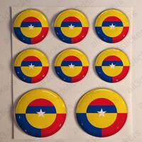 Pegatinas Colombia Escarapela 3D Relieve Pegatina Redondas Bandera Diana
