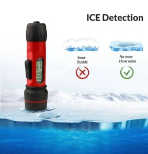 F12 Sonar ICE Fish Finder Alarm Transducer With Attractive Lamp Digital Handle