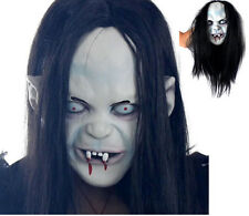 Latex Scary Long Hair Halloween Masks SADAKO Ghost Full Face Mask for Adult