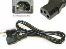 Emachine E17T6W LCD Monitor Power Cable Cord Plug AC NEW 5ft FAST SHIPPING