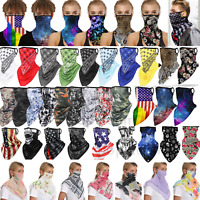Motorcycle Balaclava Neck Gaiter Tube Bandana Scarf Face Mask Cover Reusable