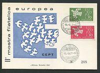 ITALIA MK 1961 EUROPA CEPT TAUBE PIGEON MAXIMUMKARTE MAXIMUM CARD MC CM d1224