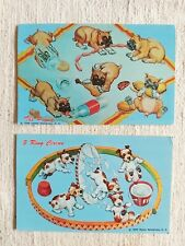 Vintage 1950s Dog Comedy Post Cards x2