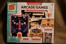 *NEW-Build Your Own Arcade Games Kit-3 Fun Interchangeable Wooden Games-HowToons